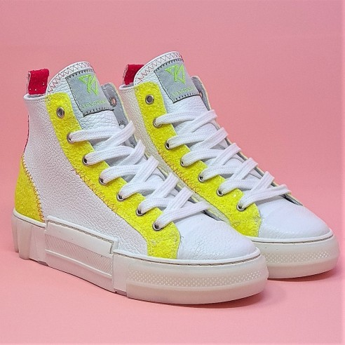 Sneakers donna glitter giallo VV21210
